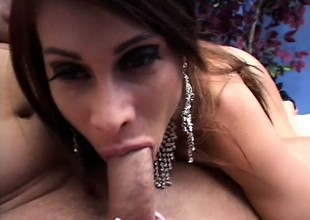 Curvy mommy Demoiselle Marie has a huge dildo together with a constant cock banging her ass