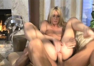 Skinny blonde acquires her beautiful a-hole and indiscretion pounded to the base