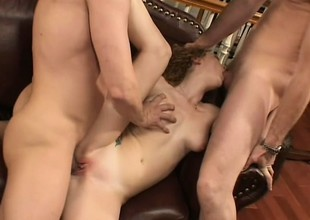 Redhead Audrey Hollander receives reamed and rammed in her righteous rear-end