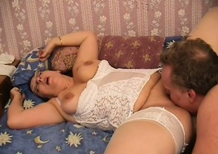 Chubby, mature nurse gives a house call about take fuck care be beneficial to her holder