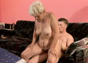 Old whore with a thirst for youthful cock gets herself some action