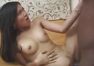 Filipina beauty Hazel gets a big jet-black cock