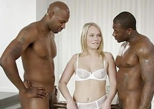 BLACKED Pretty Bazaar Dakota James Screams With 2 Big Black Cocks