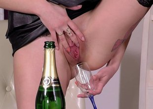 Drinking her unartificial Champagne and fucking