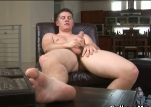 Chad Macon convulsive his cute college cock