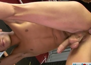 Amazing gay stud gets ass fucked firm