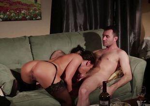 Adriana Chechik fucked hard encircling her lustful minge