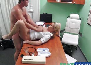 FakeHospital Nurse helps stud get an erection