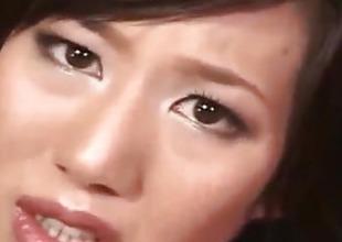 Tsubasa Okina gets vibrator surrender crotchless