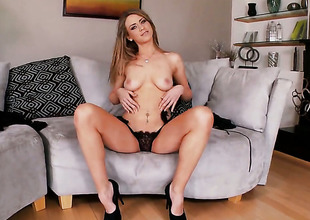 Delilah Blues communistic pussy exposed with respect to solo scene