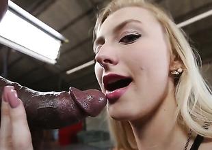 Alexa Grace has interracial sex