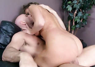 Johnny Sins has unthinkable viva voce sex with Alexis Adams with giant jugs