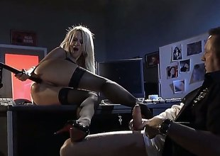 Jessica Drake is a splendid with bated breath MILF with lengthy golden-haired hair. X-rated woman in black stockings gets her fuck hole pounded then man shoots his load in her mouth. Watch Jessica Drake do it.