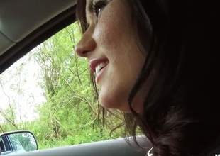 Hitchhiker Niki Sweet is a breathtakingly beautiful dark haired angel with charing smile increased by zeal for cock. Tender angel puts her pleasing lips on chaps hard beefy jock with enthusiasm
