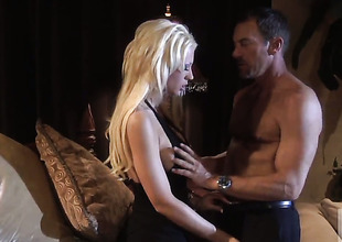 Tanya James receives her mouth stretched by guys hard tool