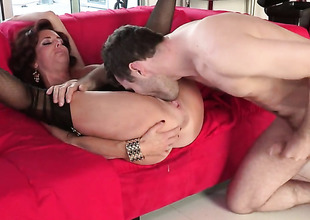 Veronica Avluv with extended melons has a great time playing with cum loaded detect