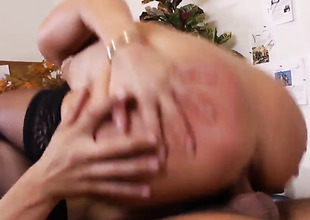 Exotic Asa Akira can't live a day without taking Rocco Reeds rugged man meat in her muff pie