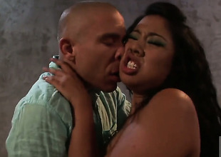Kya Tropic is marvellous on her akin to to make hard dicked dude shoot his load on oral action