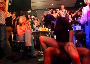 Vivacious cowgirl gets bawdy cleft licked then screwed hardcore at a blazing orgy
