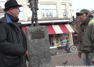 Amsterdam hooker in thigh cavalier stockings fucks a consumer