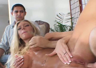Mesmerizing large breasted comme ci lewd GF gets fucked at the of lady's man
