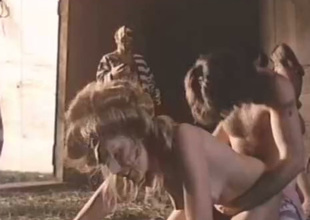 These chicks get their wang sucking skills tested in this sexy vintage porn clip