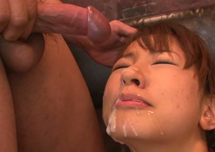 Appetizing busty suntanned Buruma Aoi acquires muddied facial exclamation