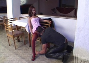 Anal streetwalker close to high heels gets a mouthful of cum after BJ and hardcore shagging
