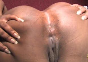 Affectionate ebony chubby with big ass giving huge dick handjob flip gloryhole