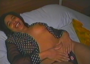 Surprising murkiness seta milf with natural tits masturbating with a vibrator close up