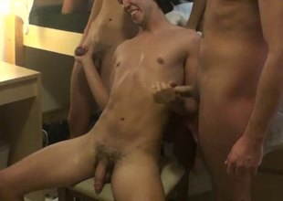Dazzling gay orgy in this video online