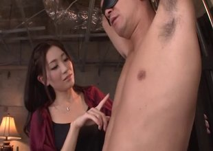 Dark haired Japanese slut gets her muff thrilled thither this awesome compilation