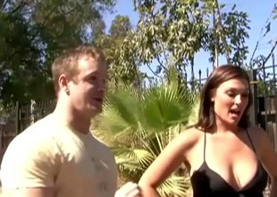 X stud picks up a married MILF in return and fucks her brains in foreign lands