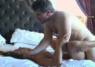 Hawt gloominess lady Eva Lovia gets banged by Manuel Ferrara