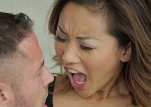 Delightful Asian chick Alina Li gets nailed wits Danny Mountain