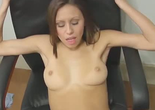 Cute brownhead chick with tight cum-hole hole is getting nailed missionary quality