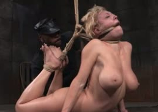Busty pretty good whore is tied up and fishy in S&m porn video