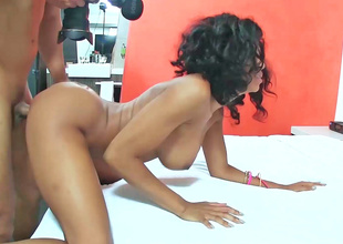 19 year old ebony girl is having her wet chink fingered