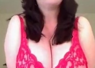 Stunning solo video at hand me kneading my big natural bosom