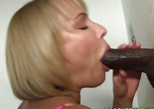 Glory hole blonde sucks black weasel words