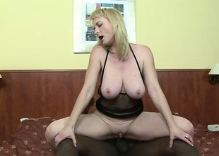 Mr Big blond milf Monik needs a massive black cock unfathomable in her anal chasm