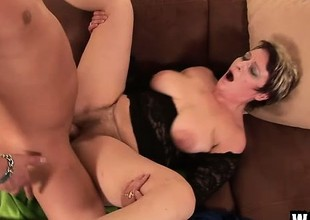 An experienced woman needs to try her warm twat opened wide
