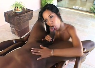 Fetching Latin witch is doing fantastic cum-stick approximately will not hear of face hole