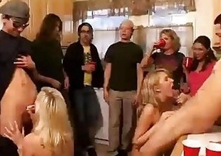 Sort out of horny university angels start an orgy to hand a dwelling party