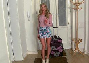 Smart legged Latvia girl Lolly Gartner