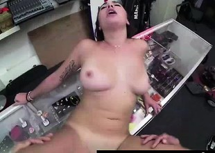 Cum facial for tattooed non-professional spoil in sex for cash