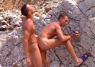 Delicious, near-hairless jocks Sylvio Panthera and Hans Brooks find a gravel pit, and relation along nearby venue nearby get some of their own rocks off, in this 9 minute quickie.  With chunky rocks on one side and along nearby ocean on along nearby other, their juvenile muscles work up a trouble about a