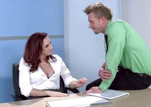 Chanel Preston fucks her gorgeous ray at work