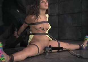 Define slut approximately pain as she gets throat drilled