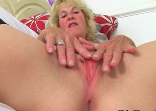 British milfs Molly and Diana masturbate in ebony stockings
